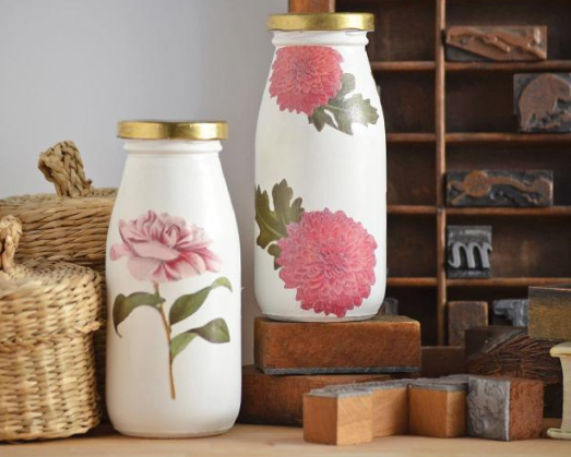 Decora Tus Botellas Y Envases De Vidrio A Partir De Servilletas - Decorar-botellas